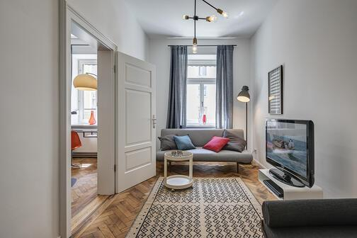 5 zimmer wohnung m bliert balkon m nchen sendling 10701. Black Bedroom Furniture Sets. Home Design Ideas