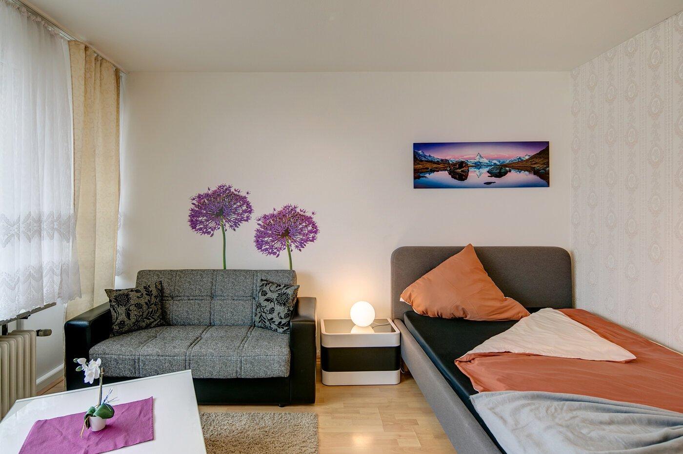1 zimmer wohnung m bliert gro er flachbildfernseher m nchen pasing 7789. Black Bedroom Furniture Sets. Home Design Ideas